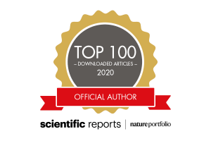 Scientific Reports Top 100 graphic logo